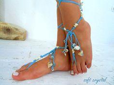 Barefoot Sandals Barefoot Beach  seaside  Jewelry barefoot sandal, Hippie Sandals Foot Jewelry Toe Thong