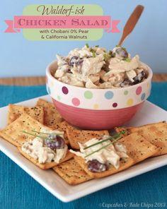 Waldorf-ish Chicken Salad w/ Pear 0% Chobani Greek Yogurt