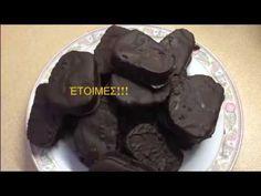 Πως φτιάχνω καριόκες εύκολα με τσουρέκι που περίσσεψε. - YouTube Pudding, Cookies, Chocolate, Youtube, Desserts, Food, Crack Crackers, Tailgate Desserts, Deserts