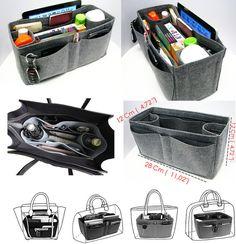 Legen Sie die magische Purser Bag Tasche Handtasche Veranstalter, Filz Tasche Organizer, Tasche