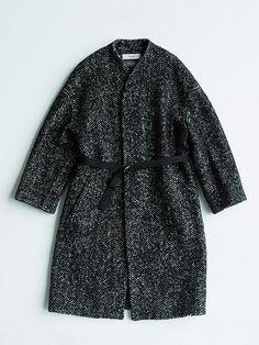 【予約品】herringbone tweed coat | saqui (store)