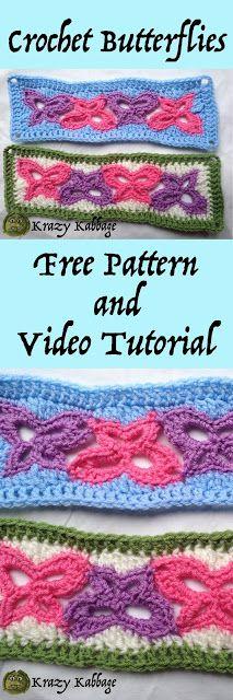 Krazy Kabbage: Linked Butterflies Free Crochet Pattern
