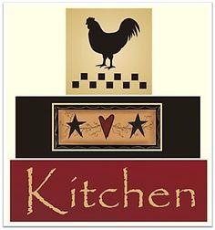 kitchen flag-folk art