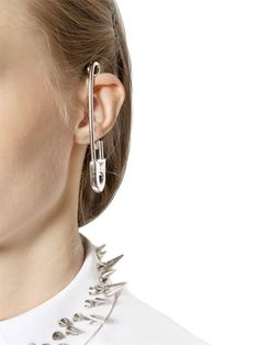 VIKTOR&ROLF - SAFETY PIN EARRING - LUISAVIAROMA - LUXURY SHOPPING WORLDWIDE SHIPPING - FLORENCE