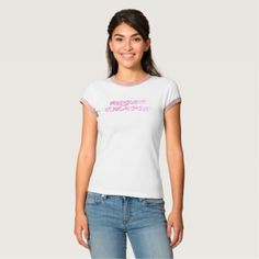 RC white&pink T-Shirt - cat cats kitten kitty pet love pussy