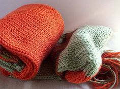 pumpkin orange sage green scarf 60 inches long by constersue, $12.00 Two of my favorite colors together...so beautifully.