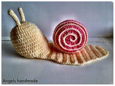 gehaakte baby newborn slakken muts #crochet baby hat snail