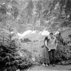mamiya 6 hiking engagement Photos film ilford hp5