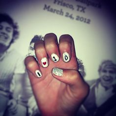 my nails <3 ONE DIRECTION