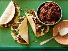 Recipe of the Day: Sweet and Spicy Short Rib Tacos If you haven't unearthed your slow cooker from summer storage quite yet, now's the time. Caramelize and sear short ribs before adding them to the slow cooker with ancho chiles and brown sugar. You'll get sweet, spicy shredded meat made for taco time.