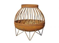 Materials: Bowl – rusting steel Stand – stainless steel Nagliai Bowl's diameter thick steel Height Weight lbs Modern Contemporary, Modern Design, Modern Fire Pit, Barbecue Grill, Outdoor Furniture, Outdoor Decor, Furniture Ideas, Modern Table, Wooden Handles