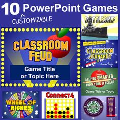 PowerPoint Games Pack - 10 Customizable Templates. $59.99