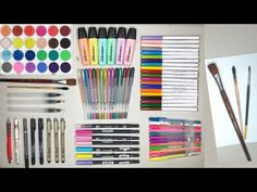 Pens For Bullet Journaling, Bullet Journal Essentials, Stationeries, Acrylic Organizer, Colored Pencils, Art Supplies, Markers, Watercolor, Stationery