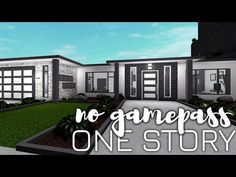 No Gamepass One Story House 1 Story House, Two Story House Design, Best Modern House Design, House Plans One Story, Family House Plans, One Story Homes, Beautiful House Plans, Simple House Plans, Home Building Design