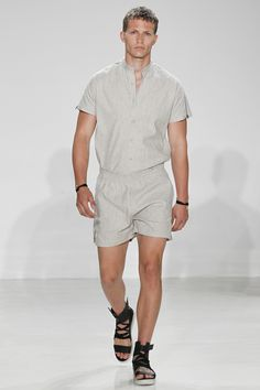 Cadet Spring 2017 Menswear Fashion Show ... yaaas men's rompers