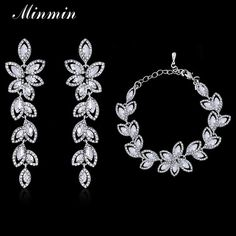 We love it and we know you also love it as well Minmin Leaf Crystal Jewelry Sets Bridal Bracelets Earrings Sets African Beads Jewelry Sets Prom Wedding Jewelry SL046+EH282 just only $8.30 with free shipping worldwide  #weddingengagementjewelry Plese click on picture to see our special price for you