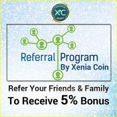 Get 5% BONUS from your direct referral downline, 1% on the second tier and 0.5% on the 3rd tier on XENIACOIN LENDING!  #XeniaCoin #XeniaPrepaidCard  #XeniaTeller #Cryptomining #Cryptoworld #ICO #Investment #Funding Crypto Mining, Crying, Investing, Two By Two, Business, World, Store, The World, Business Illustration