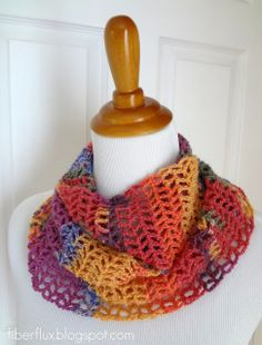 Free Crochet Pattern...Mango Salsa Scarf