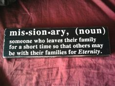 LatterDay Saint Missionary Definition Vinyl Block by signsbycolie, $9.00