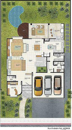 Projeto de Sobrado de 4 quartos com 255,51m²