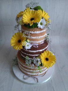 Moja prvá nahá svadobná so živými kvetmi, naked cake, autorka: Blacksun