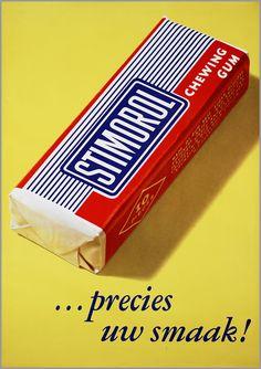 vintage Dutch advertising poster for Stimorol chewing gum Old Posters, Vintage Posters, Chewing Gum, Good Old Times, The Good Old Days, My Childhood Memories, Sweet Memories, Memories Box, Nostalgia