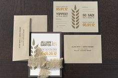 Christy's Gourmet Gifts - Craft Beer Themed Wedding - Invitation Idea with Hops elements