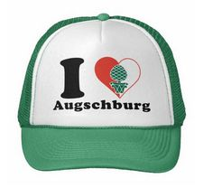 """I love Augschburg""-Trucker Cap mit Augsburger Stadtwappen #Augsburg #Augschburg #TruckerCap #TruckerHat #Schwaben"