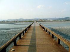 Horai Bridge (蓬莱橋) in Shimada (島田市), Shizuoka Prefecture