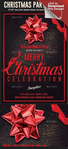 Buy Christmas Flyer Template by Hotpin on GraphicRiver. Christmas Flyer Template is very modern psd flyer that will give the perfect promotion for your Xmas event, nightclub. Christmas Flyer Template, Christmas Templates, Free Flyer Templates, Print Templates, Xmas Party, Party Party, Christmas Balls, Christmas Christmas, Flyer Design Inspiration