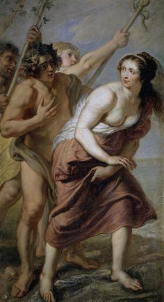 Bacchus et Ariane (1636-1638, Museo Nacional del Prado, Madrid) d'Érasme II Quellin (1607-1678)
