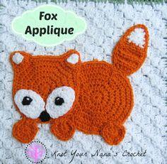 Knot Your Nana's Crochet: Woodland Themed Crochet Applique Set