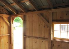 Check out this charming 10x gable shed with arched door from Jamaica Cottage Shop. It's both spacious and heavy duty! Find quality shed kits online today. http://jamaicacottageshop.com/shop/gable-series-medium/