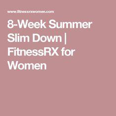 8-Week Summer Slim Down | FitnessRX for Women