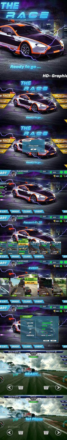 Car Racing-Simulator-UI by Codemtics_Inc | GraphicRiver Racing Simulator, Game Assets, Race Cars, Drag Race Cars, Rally Car