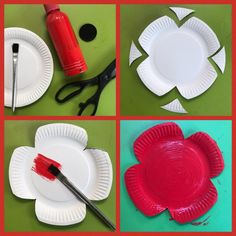 Crafts: Easy Paper Plate Remembrance Poppies - HodgePodgeDays These paper plate Remembrance Poppies are so simple to make. You could make a few of them into a poppy garland or make a poppy field display of them. Memorial Day Activities, Remembrance Day Activities, Remembrance Day Poppy, Poppy Craft For Kids, Art And Craft, Art For Kids, Kid Art, Happy Hooligans, Toddler Crafts