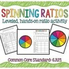 Spinning Ratios Leveled, Hands-on Ratio Activity, CCS: 6.RP.1  In this product there are 5 different spinners. Students will use a paperclip and sp...