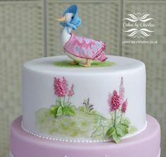 Jemima Puddleduck Christening cake - Cake by Christine Drew