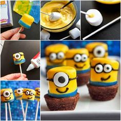 DIY Minions Marshmallows | UsefulDIY.com Follow Us on Facebook == http://www.facebook.com/UsefulDiy