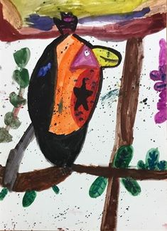 """""""Colorful bird"""" By Bailey"""