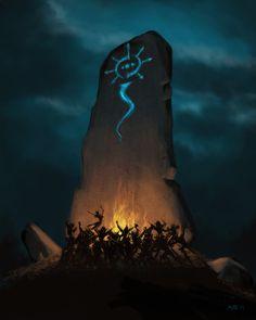 Sabbat at the Standing Stone by ~umbrafox on deviantART