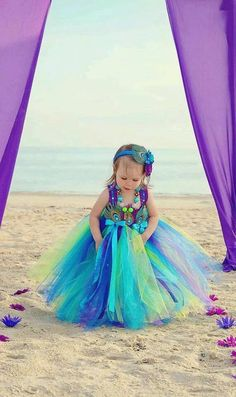 tutu green blue purple