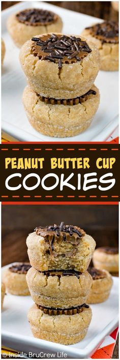 Peanut Butter Cup Cookies - a soft peanut butter cookie stuffed with a peanut butter cup candy makes an awesome treat. Great recipe for holiday parties and cookie exchanges!