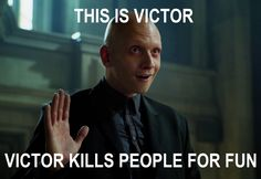Victor Zsasz...This is Victor, Victor kills people for fun. Gotham. Anthony Carrigan everybody