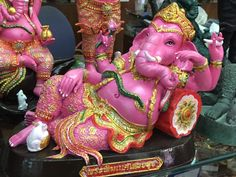 Thailand, Elephant, Wallpaper, Asia, Pink, Architecture, Travel, Arquitetura, Viajes