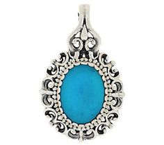 Carolyn Pollack Turquoise Sterling Filigree