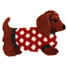 Dachshund Latch Hook @Kellie Johnson @Karen Dunger