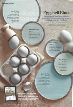Potential wall color from Eggshell Blues paint colors in May 2013 issue of BHG