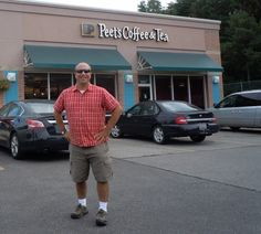 "Me/Tom of French Creek Medical the morning of 09/07/2013 when I turned 42 yrs old!  My wife treated me to a tasty upscale coffee at the newest place in Avon - ""Peet's Coffee""!  It's the same location where ""Caribou Coffee"" had been w/ an all-new interior. I was chit-chatting w/ the barista & it turns out that Peet's Coffee is based out of SAN FRANCISCO..& they are making their way east.  Then, he explained about their fresh-roasted coffee beans....flown in on a JET every 2 to 3 days - who…"