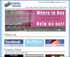 Cosplay Tutorial List, Articles and Guides, Where to buy List, FAQs and how to get in Contact!